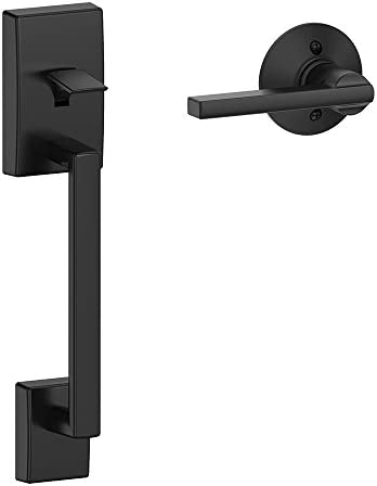 Schlage FE285 CEN 622 LAT Century Trim Lower Half Front Entry Handleset with Latitude Lever, Matte Black