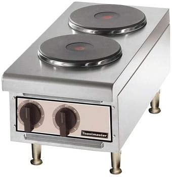 Amazon Com Toastmaster Tmhpf Countertop Electric Hot Plate W 2 Burners Kitchen Dining