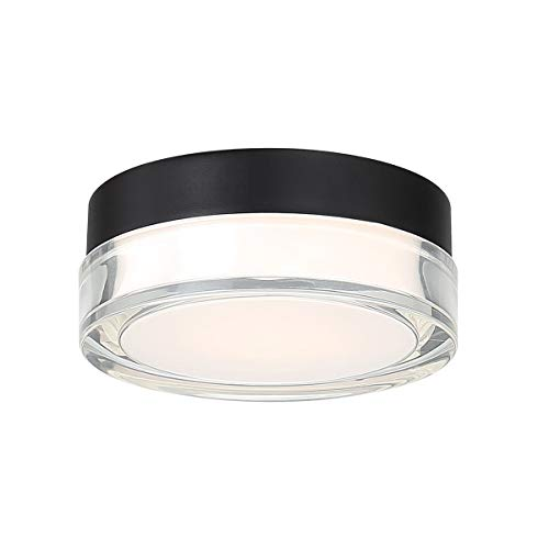 WAC Lighting FM-W57806-30-BK DweLED Dot 6in LED Round Flush Mount 3000K in Black Light Fixture, 6 Inches (Marine Grade Stainless Steel Outdoor Ceiling Fans)