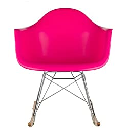 Poly and Bark Rocker Lounge Chair, Fuchsia