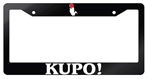 GSF Frames Kupo! Moogle Glossy Black Plastic License Plate Frame Final Fantasy (License Frame Fantasy)