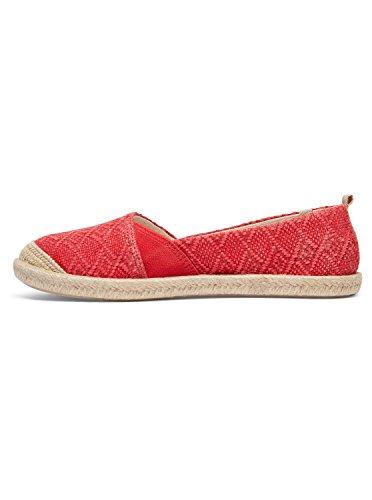 Red Tone Women's Flat Flamenco Slip Roxy on Shoe x0CnqYwad