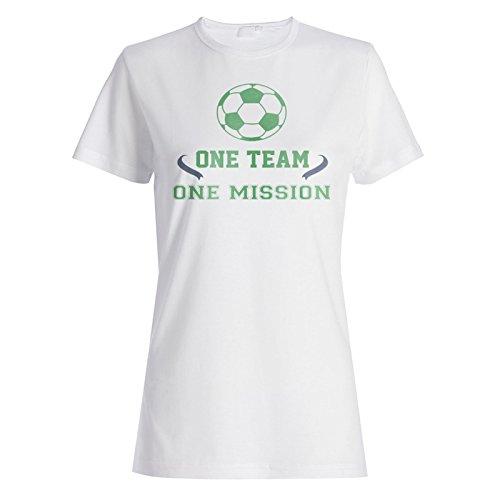 Ein Team Ein Mission Fußball Damen T-shirt n619f