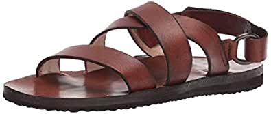 FRYE Men's Cape Cross Strap Sandal, Cognac, 7 M