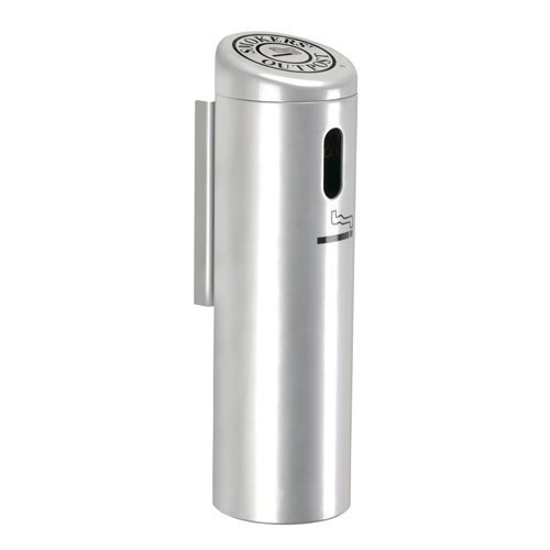Wall-Mounted Locking Ashtray with Swivel Cigarette Receptacle Color: Silver