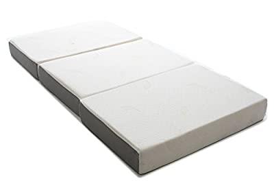 Milliard 6-Inch Memory Foam Tri-fold Mattress with Ultra Soft Removable Cover with Non-Slip Bottom