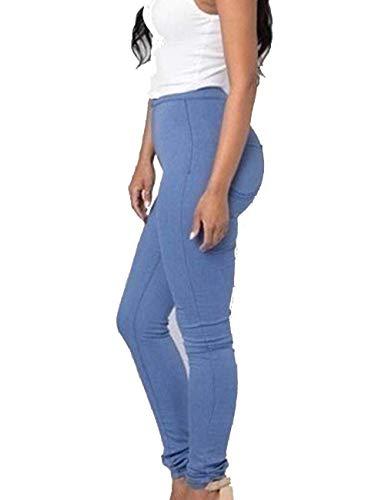 Slim Alta Saoye Blau Modern Candy Skinny Colors Long Jeans Stretch Fashion Pantaloni Vita Giovane Casual Ladies Pants Denim A TrAwq7T