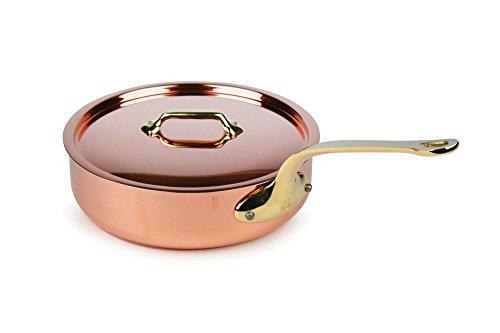 Mauviel M'heritage 250B 2.5mm 3.2-quart Copper Saute Pan with Bronze Handle ()