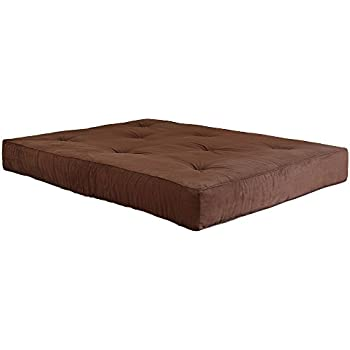 classic brands classic brown 8 inch futon mattress full amazon    dhp 8 inch independently encased coil premium futon      rh   amazon