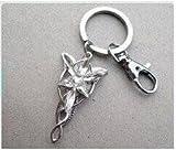 Aragorn Arwen Evenstar Keychain Lotr Lord of the Rings Key Ring Zircon Keychain Fashion with with Swivel Clasp Keychain