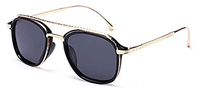"PRIVE REVAUX ""The Jetsetter"" Handcrafted Designer Curved-Bridge Retro Sunglasses"