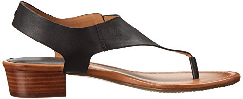 Tommy Hilfiger Women's Kitty W Leather Ankle-High Leather Sandal Black 6tcY5