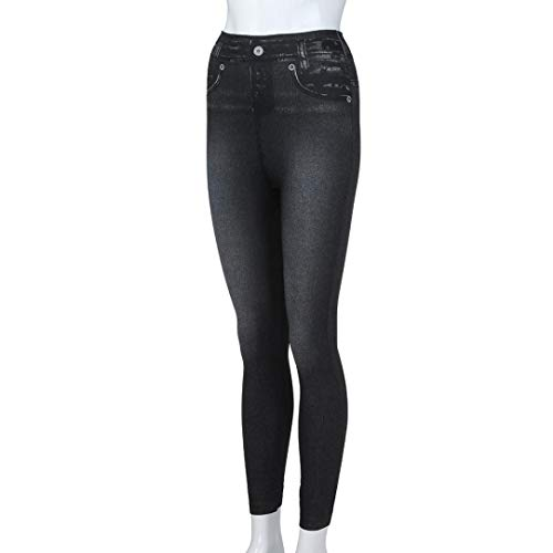 Longueur Pantalon Jeans Noir Denim Plus Leggings Femmes Slim Leggins conqueror Taille Fitness gqtvPx