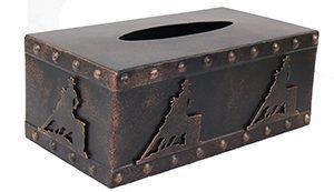 Metal Barrel Racer Tissue Box in Copper ()