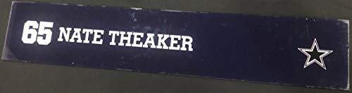 (Nate Theaker Game Used Locker Room Name Nameplate 36