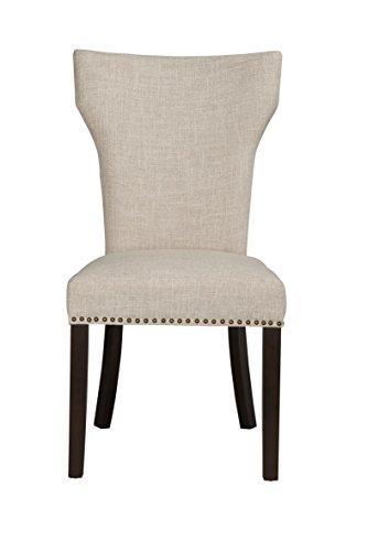 Boraam 82718 Monaco Parson Dining Chair, White Sand