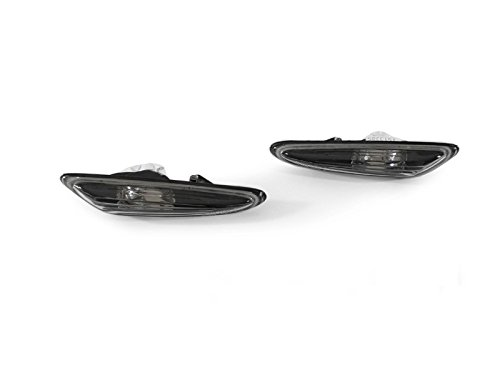 E46 Wagon (REVi MotorWerks Smoke Fender Side Marker Light Set by DEPO Fit 2002-2005 BMW E46 4D Sedan / 5D Wagon)