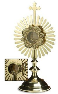 Small Monstrances - Removable Luna with Hinge