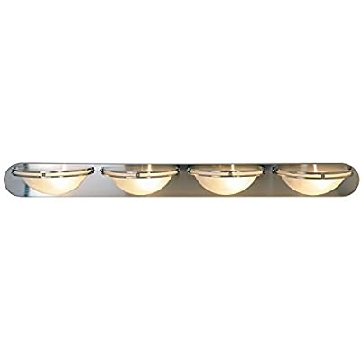 Monument 617619 Contemporary Vanity Fixture, Brushed Nickel, 48 In.