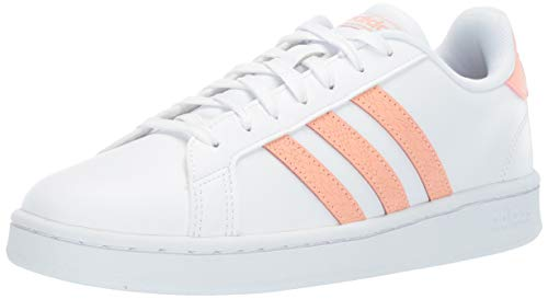 adidas Women's Grand Court, dust Pink/White, 7 M US