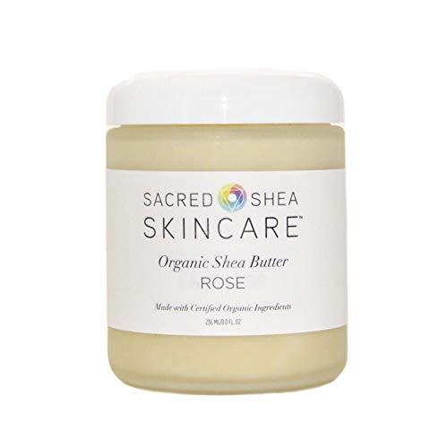 Sacred Shea Skincare Organic Shea Rose Body Butter, Rose Butter, Beauty Butter, 8 oz.