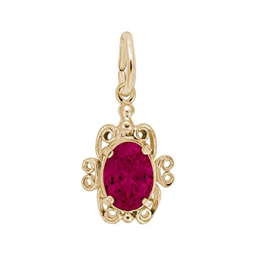 (Rembrandt Charms Yellow Gold July Birthstone Charm)