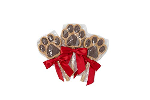 - Claudia's Canine Bakery, Carob Paw Print Sucker | Peanut Butter Flavor, Gourmet Dog Treats | No Preservatives, No Animal by-Products, No Fillers | Made in The USA | Net Wt. (3 Pack)