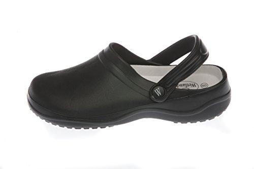 Women's Garden Clogs, Slip On, Lightweight, Synthetic. Black