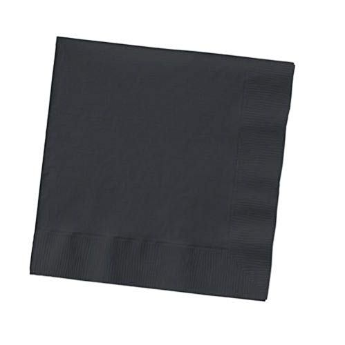 2-ply Paper Square Luncheon Napkins Black Colors Disposable Dinner Bar Party 12 Package (600 Napkins) Tkcompany from Unknown