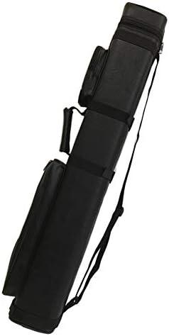 HONFAM 당구 큐 케이스 둥근 하드 큐 케이스 블랙 3B6S (개 머리 판 쇠 3 개의 갱 6 개 수납) / HONFAM Billiard Cue Case Round Hard Cue Case Black 3B6S (6 buttshafts)