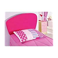 Pink Faux Suede Girls Headboard 3 foot Single bed