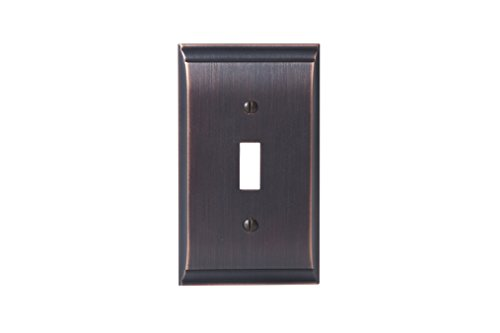 Amerock BP36500ORB Candler 1 Toggle Wall Plate - Oil-Rubbed (Dark Bronze Cover Plate)