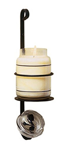 Iron Jar Candle Sconce - Heavy Duty Metal Candle Holder,