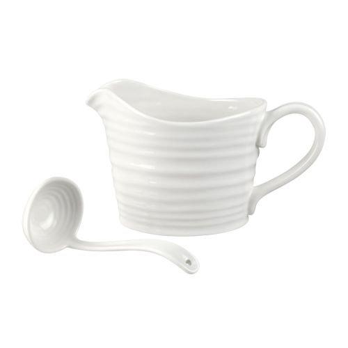 Portmeirion Sophie Conran White Mini Sauce Jug and Ladle Set (633094)