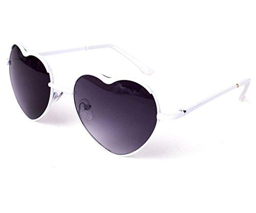 Heartisan Personality Heart Shaped Rimmed Frame Anti-UV Sweet Sunglasses - Glasses Raiban