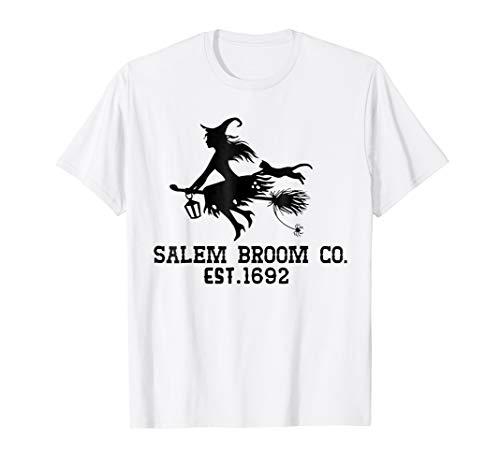 Salem broom co est 1692 Halloween Costume Shirt