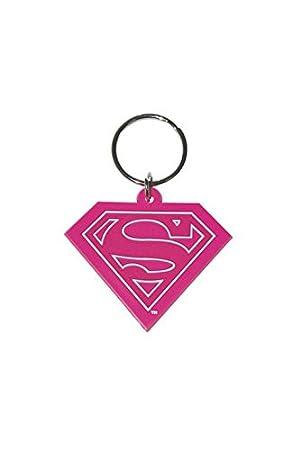 Superman Llavero PVC Logo rosa: Amazon.es: Coche y moto