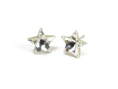 Crystal Star Shape Finest Austrian Crystal Earrings, 10mm ()