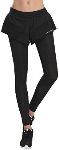 【スポーツラボ ラサーナ】レギンス付きショートパンツ ヨガ ランニング ウォーキング レディース スポーツ ジム スパッツ ブラック