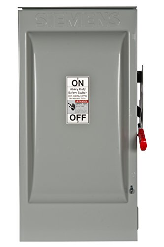 Siemens HF364NR 200-Amp 3 Pole 600-volt 4 Wire Fused Heavy Duty Safety - Safety Switch Fused