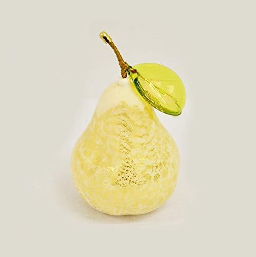 Murano Glass Blown Pear, Gold