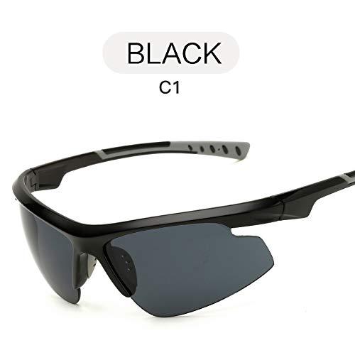 Moda nbsp;Sol Deportivas Gafas sunglasses de Gafas Sol Deportivas Hombre nbsp;Gafas nbsp;Tendencia Negro Aire Gafas Libre BLACK Mjia de al de E6PnBw5Wq