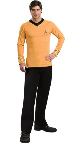 Rubie's Classic Star Trek Deluxe Captain Kirk Adult Costume Shirt, Small -