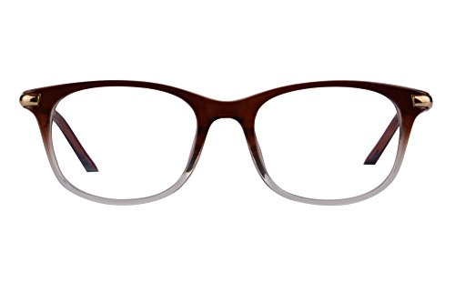 Women's Asymptotic multifocal Glasses Horn Rimmed Readers Progressive Multifocus Computer Reading Glasses-RG17 (C4-up+1.00, Down+2.50)