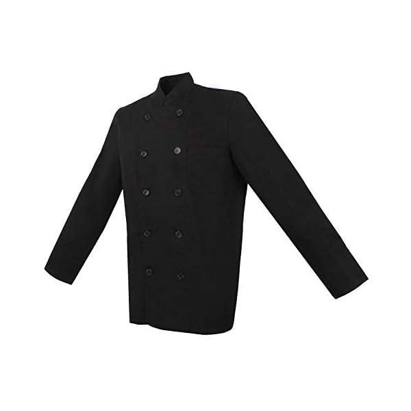 MISEMIYA Chaquetas Chef Cocineros Mangas Largas Camisa de utilidades de Trabajo para Hombre 2