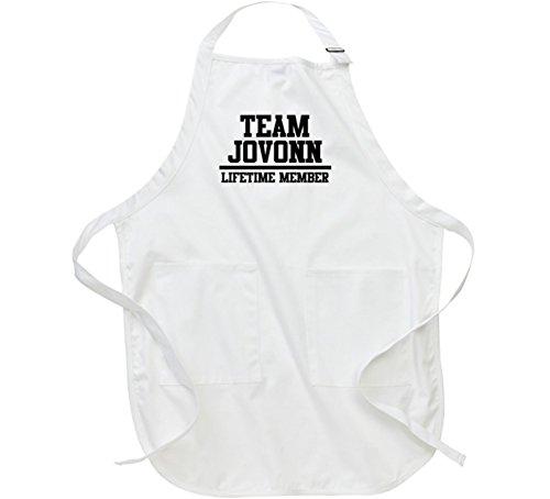 Team Jovonn Lifetime Member Name Fathers Day Gift Apron L White