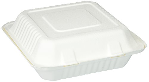 Hefty Earth Choice 3-Compartment Containers, 9 Inch, 50 Count