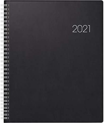 Buchkalender Manager Wt7 weektimer 21x26cm 1 Woche/2 Seiten Kunststoff schwarz 2021