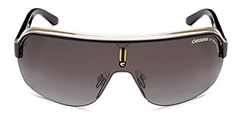 Carrera Topcar 1  Unisex Shield Sunglasses,Black Crystal Yellow Frame/Gray Gradient Lens,one ()