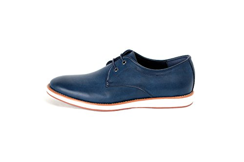 JAS - Zapatos de cordones de Material Sintético para hombre Regular, color Azul, talla 41 EU